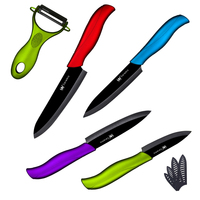 New Arrival 4 Colors Handle Kitchen Knives 3 4 5 6 Inch A Green Peeler High