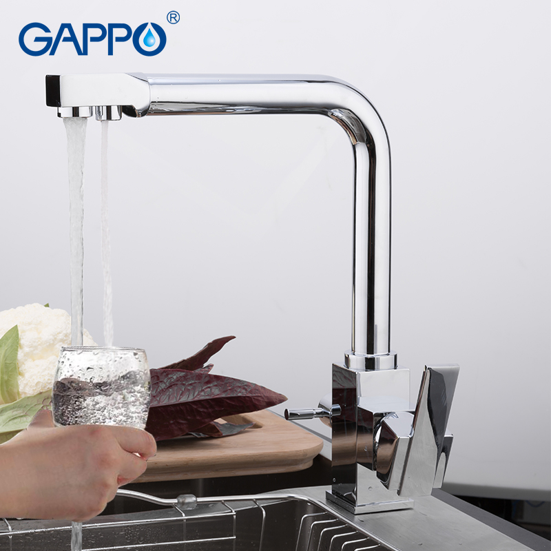купить GAPPO kitchen faucet water filter taps brass kitchen mixer Single Hole Handle water saver Deck Mounted Mixer crane Tap недорого