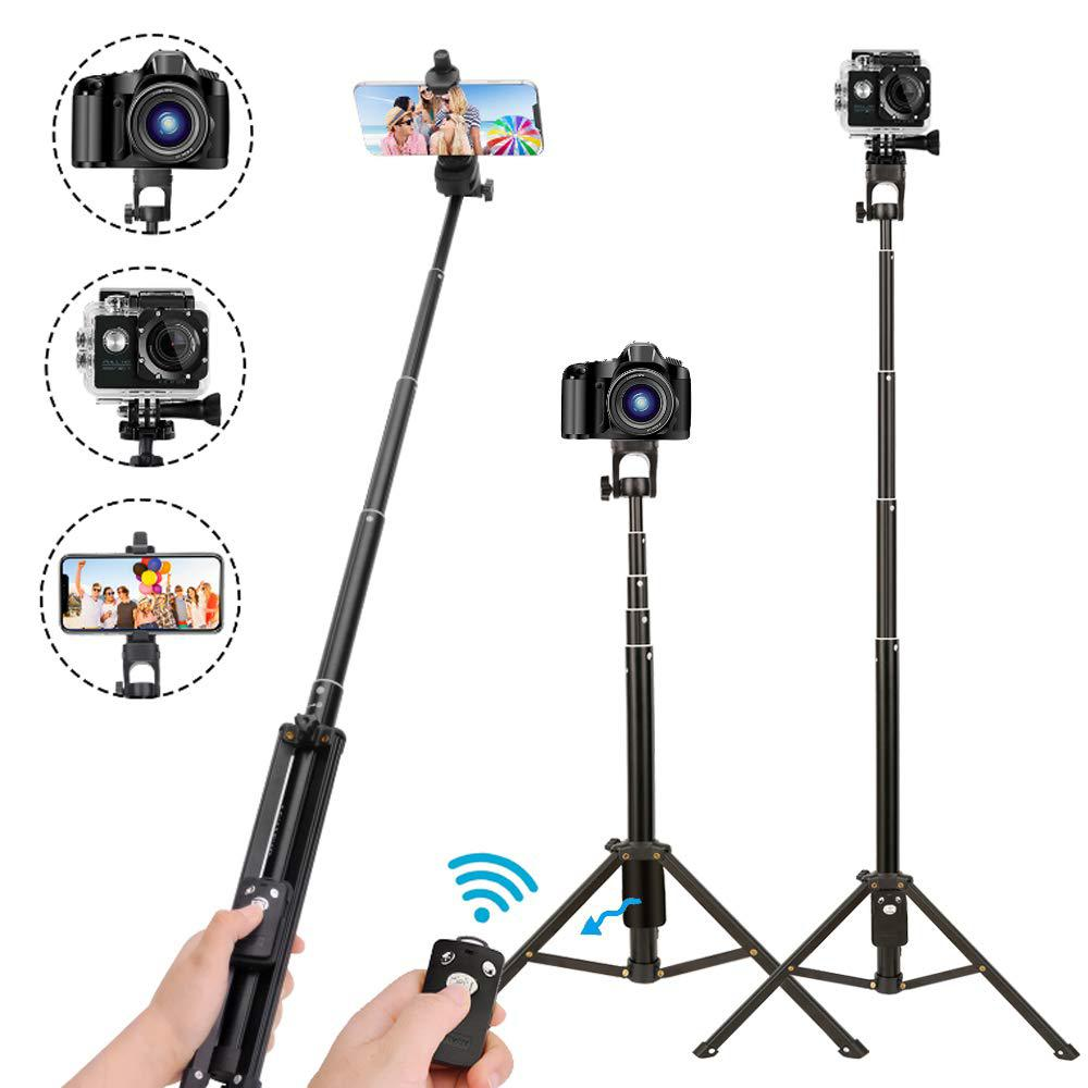 Selfie Stick Tripod Extendable Camera Tripod for Cellphone Wireless Remote for Apple Android iPhone 8 X Plus Samsung Galaxy S10