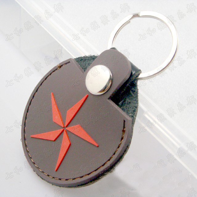 2 Pcs Red windmill Leather Key Chain Guitar Picks Holder Keychain Plectrums Bag  Case Sale Guitar Pick pack
