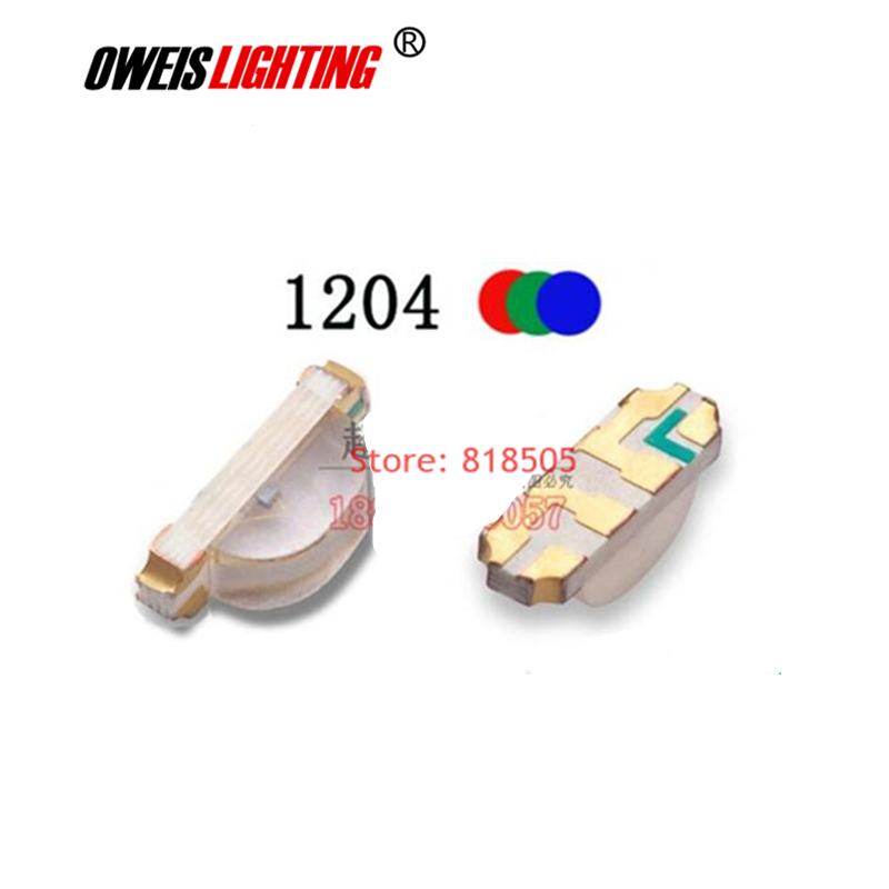 50PCS 1204 SMD LED RGB Red+green+blue 3210 Full Color LEDs 1206 Common Cathode / Common Anode 1615  1.8-2.0v 20mA 3.2*1.0mm