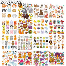 ZOTOONE DIY Heat Transfer Patches for Clothing Applique Baby Clothes Decoration Cute Cartoon Animal Combination Iron on