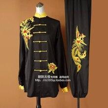 Customize Chinese Tai chi font b clothing b font taiji performance garment kungfu uniform embroidered for