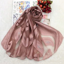 hot deal buy  2018 new arrival paisley burn out women silk organza scarf silver lurex evening wraps fashion gorgerous wrap  ll180189
