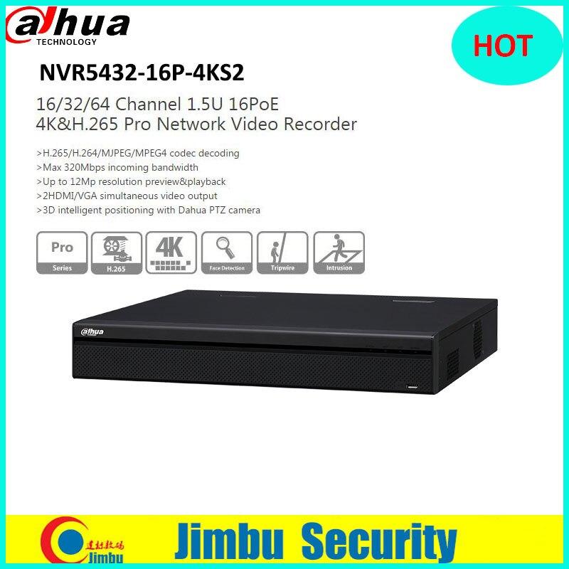 Dahua POE NVR 32ch NVR NVR5432-16P-4KS2 P2P Network Video