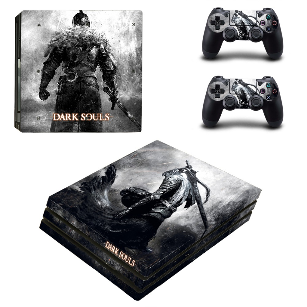 Game Accessories For Playstation 4 PS4 PRO Console Game Decal Skin Stickers + 2 Pcs Stickers For PS4 PRO Controller