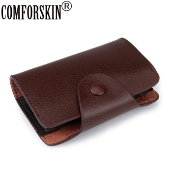 цена COMFORSKIN New Arrivals High Quality Split Leather Card Holders Unisex Practical Card Wallet Hot Brand Card Case Factory Price онлайн в 2017 году