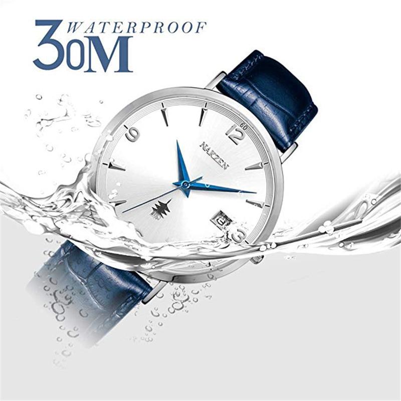 NAKSEN Classic Armbandsur Märke Luxury Quartz Män Klockor - Herrklockor - Foto 4