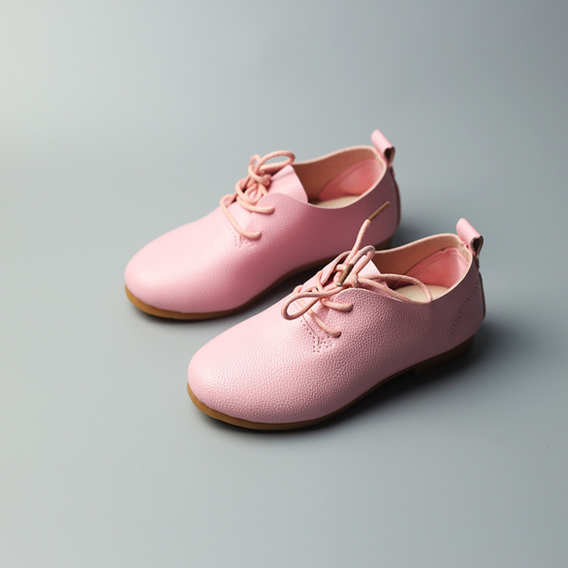 BABAYA 2018 New Girls Boys Casual Leather Shoes Baby Girls Party Dancing Shoes Little Boys Kids School Uniform Shoes V9
