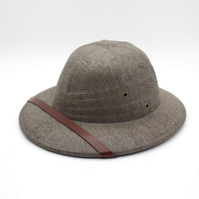 c9abdb22 Summer Straw Pith bucket hats for men sun hat cap mens panama Safari Jungle  wide brim