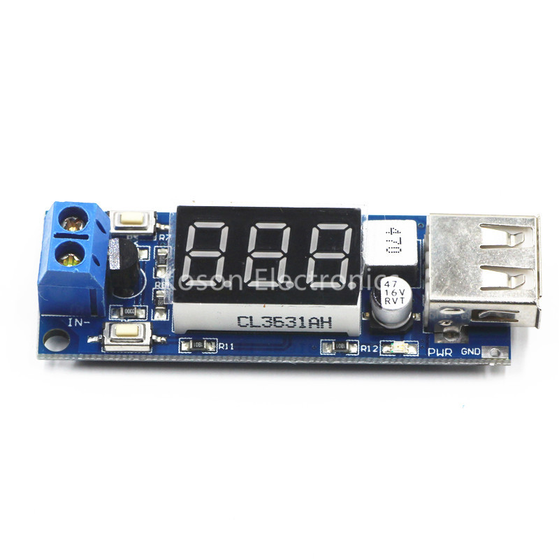 1PCS 5V DC-DC Step Down Power Module LED Display with USB Charger for phone Arduino