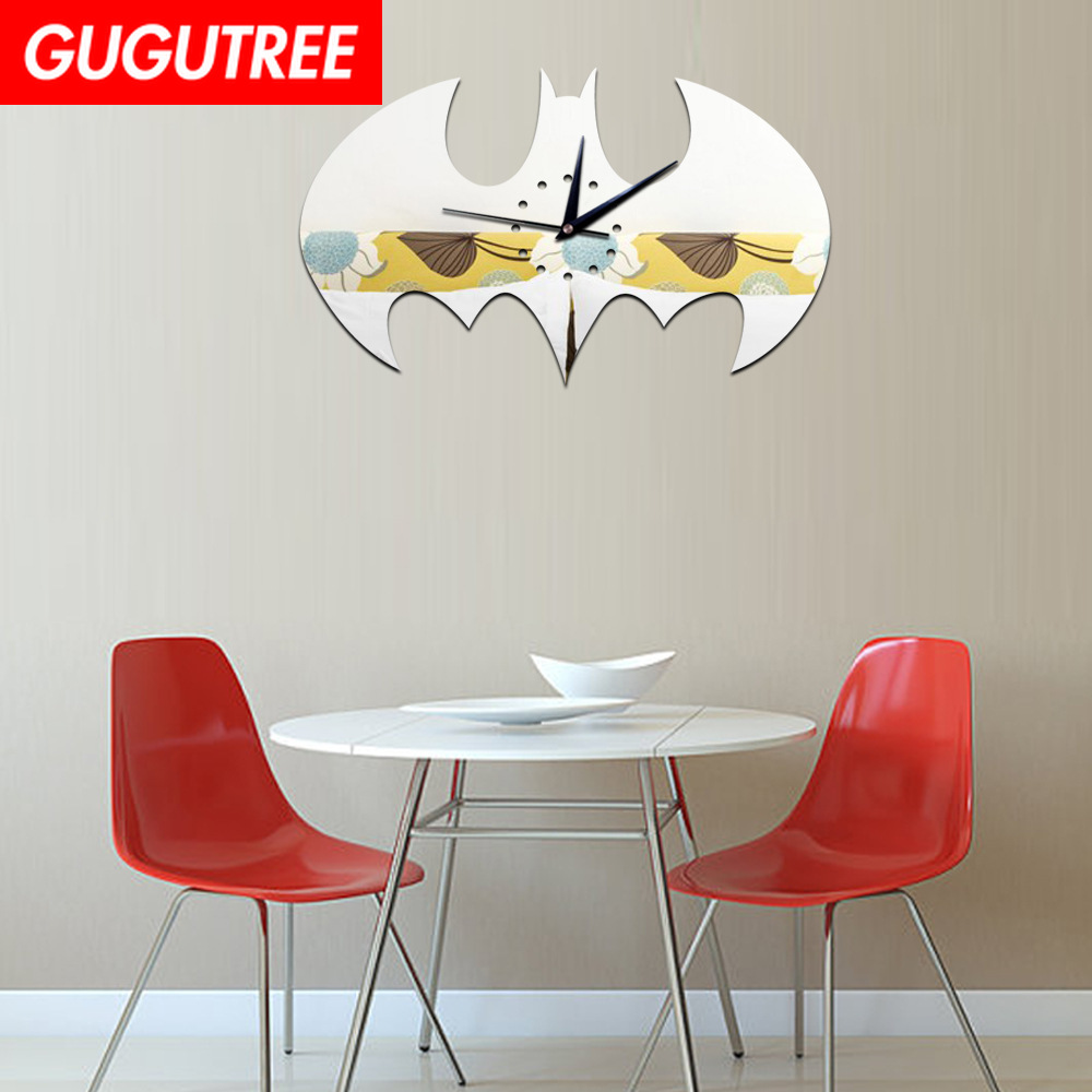 Decorate 3D bat clock art wall mirror sticker decoration Decals mural painting Removable Decor Wallpaper LF-1884