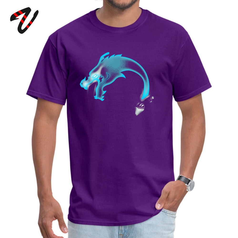Summer Two Dragons two Brothers Men T Shirt Wholesale Summer/Fall Short Sleeve Crew Neck 100% Cotton Fabric T Shirt Sweatshirts Two Dragons two Brothers -13805 purple