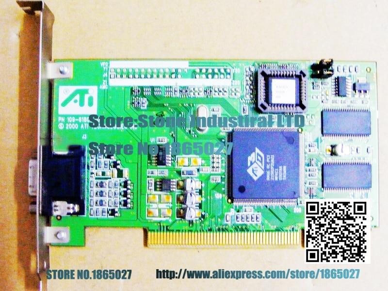 ФОТО Original Industrial Computer Graphics ATI RAGE 3D PCI graphics card 109-61800-01 industrial control 100% test