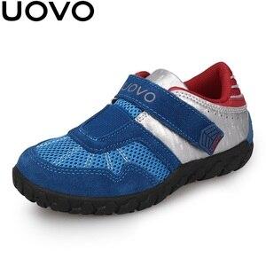 Image 1 - UOVO 2020 Neue Ankünfte Marke Kinder Schuhe Sommer Herbst Jungen Turnschuhe Atmungsaktive Licht Gewicht kinder Schule Schuhe Racing stil