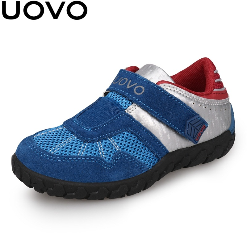 UOVO 2020 New Arrivals Brand Kids Shoes Summer Autumn Boys Sneakers Breathable Light-Weight Children's School Shoes Racing Style