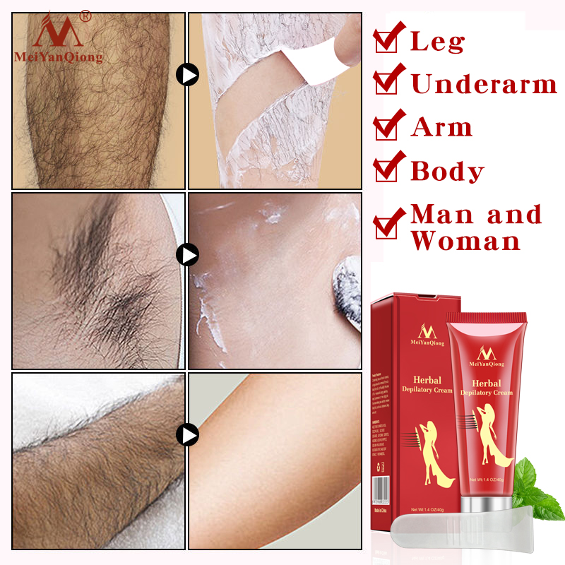 Meiyanqiong  Female Male Herbal Depilatory Cream Hair Removal Painless Cream For  Removal Armpit  Legs Hair Smooth Body Care