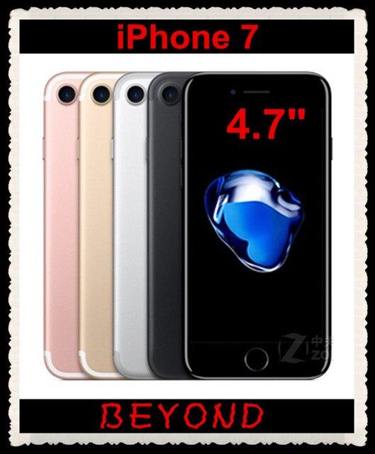 "Apple iPhone 7 Оригинал Factory Unlocked Мобильный Телефон 4 Г LTE 4.7 ""Quad Core A10 ОЗУ 2 ГБ ROM 12MP 32 ГБ/128 ГБ/256 ГБ Сотовый телефон"