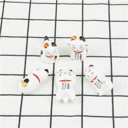 Lucky Cat Sumpit Pemegang Jepang Keramik Sumpit Perawatan Keramik Beruntung Kucing Rumah Hotel Keramik Lucu