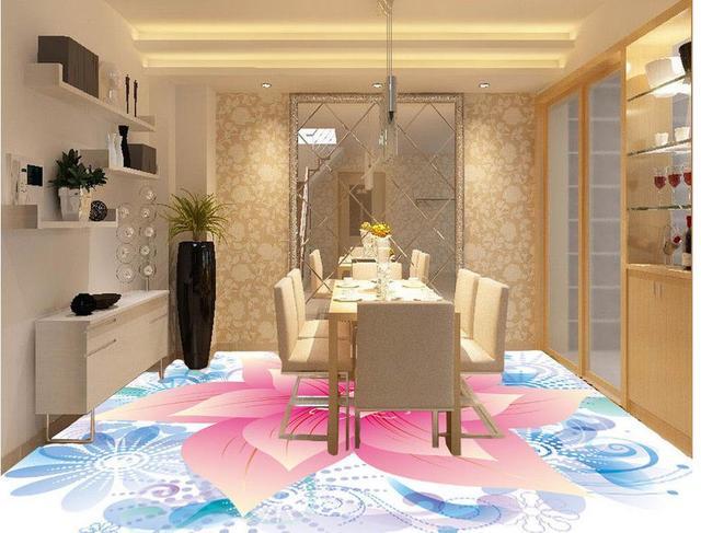 fabulous romntico y clido piso d mural papel pintado moderno flores d suelo para centro comercial cocina mural wallpaper d piso with pintar suelo cocina