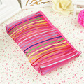 2016 New Transparent seven color waterproof PVC Sandy Beach net Women Cosmetics Bags HBG30