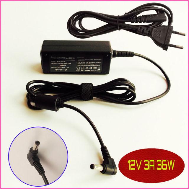 Для ASUS Eee PC 701 701SDX REV02 900 901 902 904 1000 12 В 3A Ноутбук Адаптер Переменного Тока Зарядное Устройство ПИТАНИЯ шнур