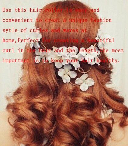 25 centimetros magia modelador cabelo rolo