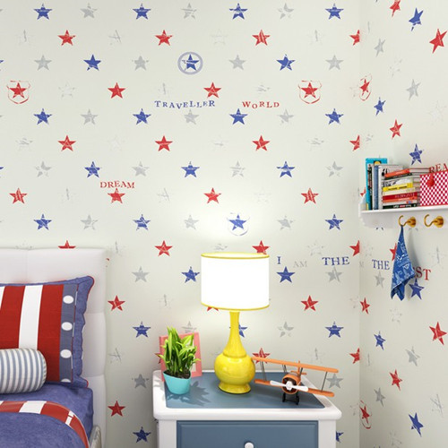 Classic Star Boys Bedroom Wallpaper Baby Boy Room Decoration ...