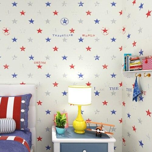 Baby Behang Jongen.Klassieke Ster Jongens Slaapkamer Behang Baby Jongen Kamer Decoratie
