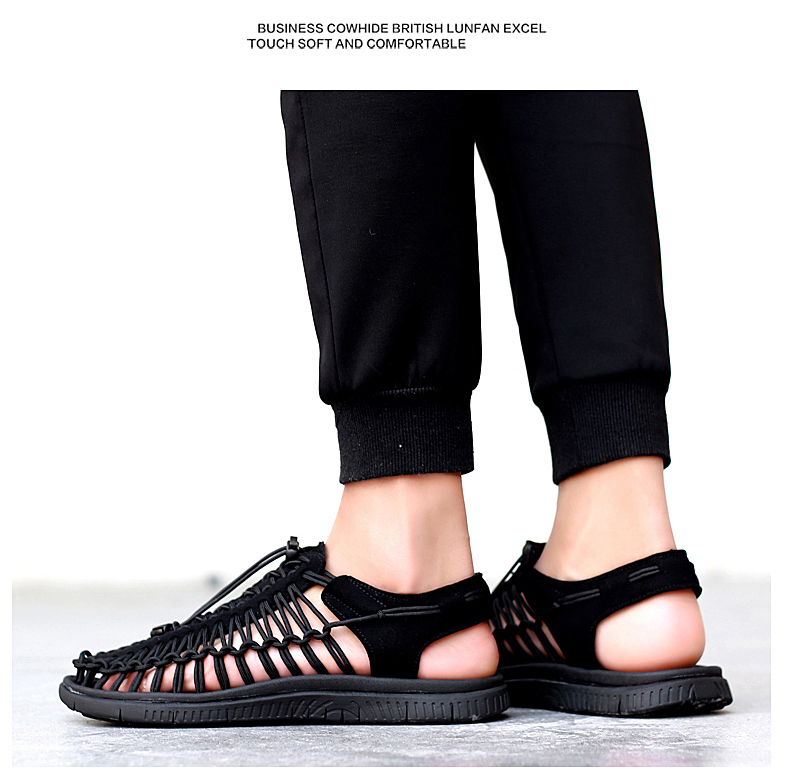 SERENE Brand2019 Summer Men Sandals Weaves Breathable Shoes Casual Sandals Fashion Design High Quality Comfortable Casual Sandal (10)
