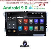 2+16 9Android9.0 Car NODVD Player Stereo Radio for VW GOLF 5 Golf 6 Polo Passat CC Jetta Tiguan Touran GPS Navigation SWC BT SD