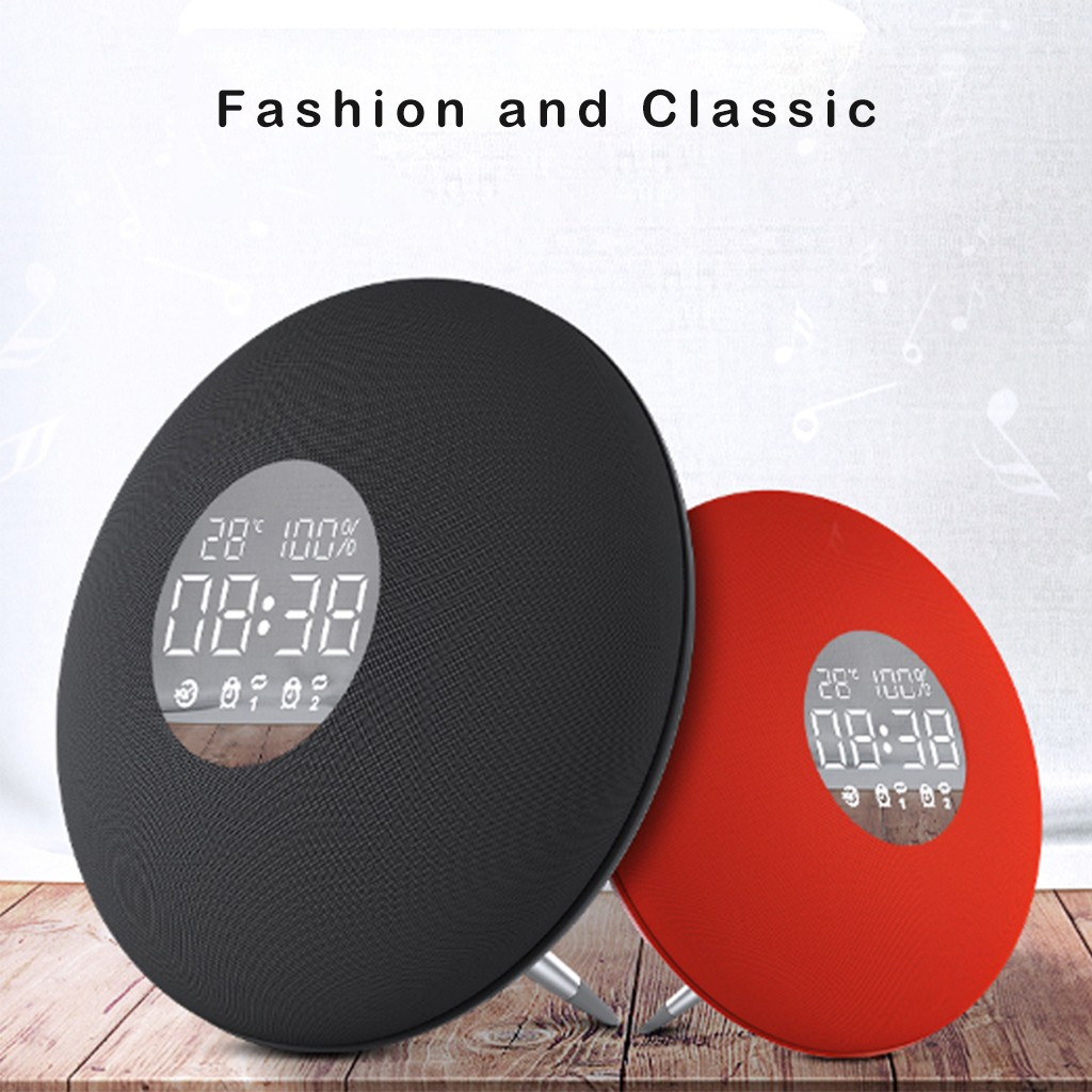 YAyusi S6 Double Haut-Parleur HIFI Musique Miroir haut-parleur Bluetooth Avec télécommande Bluetooth + AUX + support de la carte TF 3 jouer modes