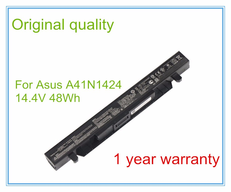 Original Laptop Battery A41N1424 (4cell 48Wh 15V ) for GL552 GL552J GL552JX ZX50 ZX50J