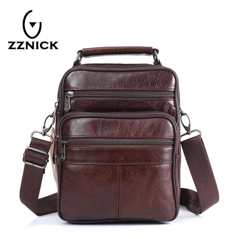 ZZNICK 2017 Men Bags Ipad Handbags Sheepskin Leather Male Messenger Purse Man Crossbody Shoulder Bag Men's Travel Bags  8101 zznick 2017 genuine leather bag men crossbody bags fashion men s messenger leather shoulder bags handbags small travel male bag