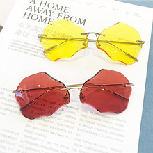 Personality frameless sunglasses big box women fashion