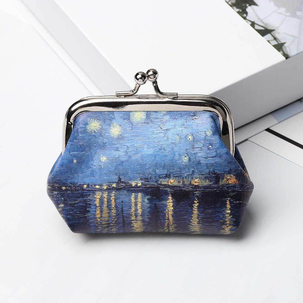 1PC Vintage Münze Geldbörsen Frauen Mädchen Kleine Mini Brieftasche Druck Haspe Bargeld Karte Brieftasche Mode Kupplung Mini Handtaschen Geld null Tasche