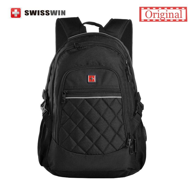 Swisswin new style unisex backpack waterproof school swissgear wenger Lapto bag backpack multifunctional Nylon Mochila Backpack swisswin black business backpack sw9218 male swiss 15 6 computer swissgear wenger bag 23l mochila