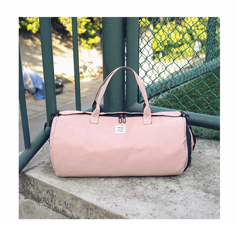 New Oxford Cloth Women Travel Bag Solid Color Multi-function Men Sports Bag Can Put Shoes Round Fitness Bags Convenience