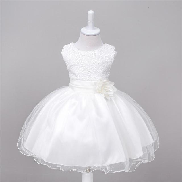 2019 Baby Girl Dress Lace white Baptism Dresses for Girls 1st year birthday party wedding Christening baby infant clothing