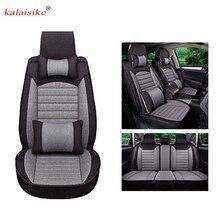 Kalaisike льна универсальное автокресло Чехлы для Citroen все модели C4-Aircross C4-PICASSO C5 C4 C2 C6 C-Elysee C -Triomphe