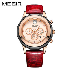 New megir women watches fashion luminous leather quartz ladies wrist watch clock montre femme for female.jpg 250x250