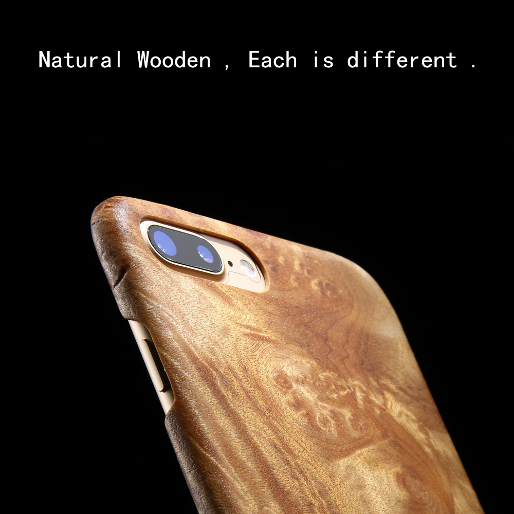 Coque de téléphone en bois naturel pour iphone 7 pour iphone 7 plus housse de protection arbre en bois parfumé grenade/aile de poulet bois/palissandre