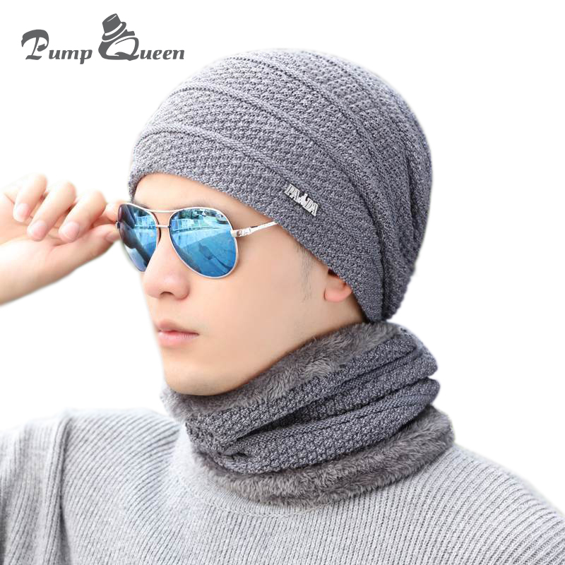 Pump Queen Winter Hat   Skullies     Beanies   Hat Winter   Beanies   For Men Women Wool Scarf Cap Balaclava Mask Gorras Bonnet Knitted Hats