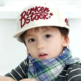 Summer child hiphop cap baby embroidery child cap male female child flat  brim baseball cap ef0f71d0f1c