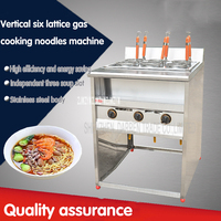 1PC  FY-6HX.R Commercial six stainless steel vertical lattice gas cooking noodles machine malatang machine