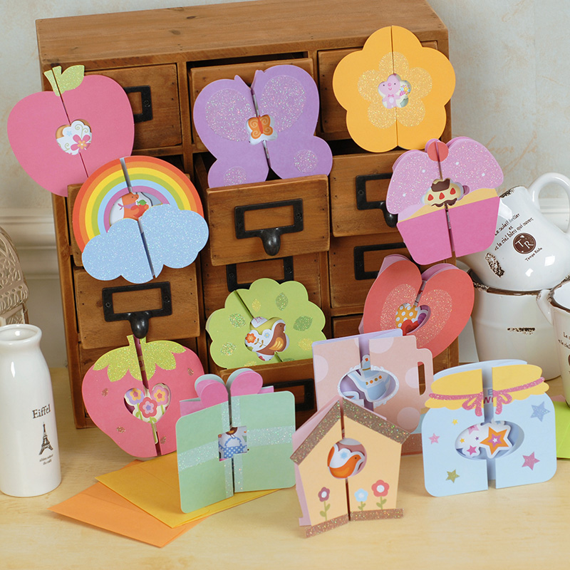 Child Handmade Card Diy Material Kit To Send The Teacher