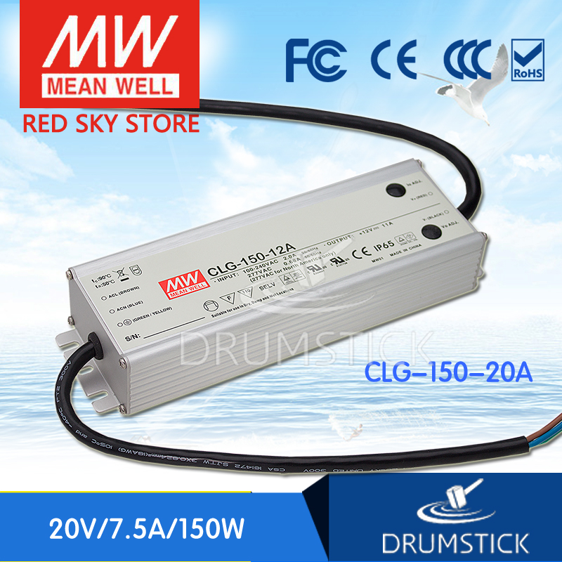 hot-selling MEAN WELL CLG-150-20A 20V 7.5A meanwell CLG-150 20V 150W Single Output LED Switching Power Supply meanwell 24v 150w ul certificated clg series ip67 waterproof power supply 90 295vac to 24v dc