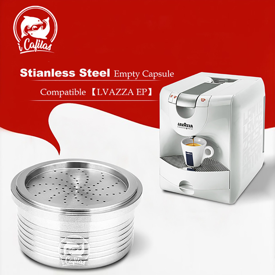 Brand New Stainless Steel Metal Reusable Lavazza Coffee Capsule Make Crema Coffee Basket Filter Brewer For Espresso Point Machin
