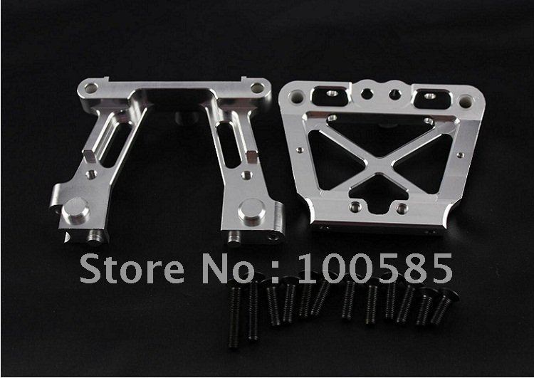 1 5 Baja Bulk Head for 1 5 scale hpi km baja 5B Silver 85176