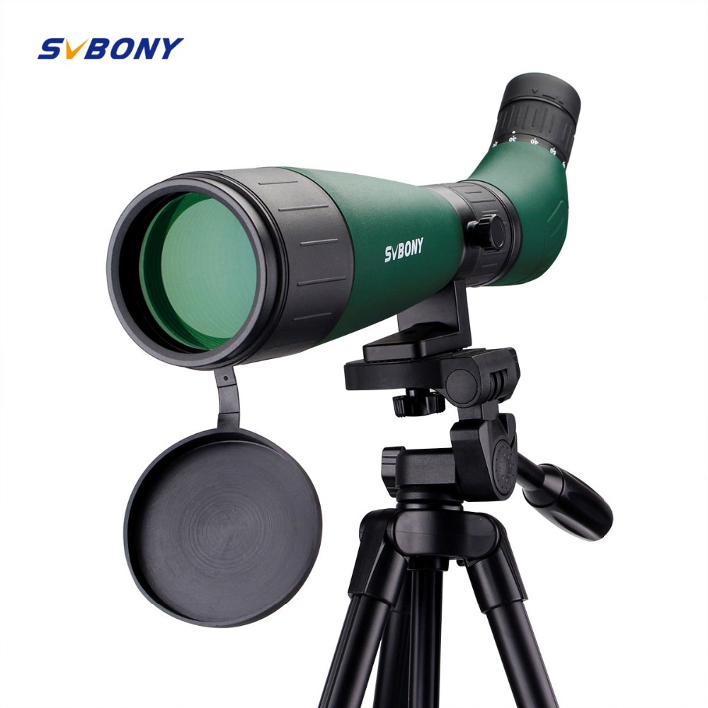 SVBONY SV18 Spotting Scope 20-60x60AE Compact Shooting Archery Hunting Birdwatch FC Tourism Telescope Zoom with 49 Tripod 9327 цена
